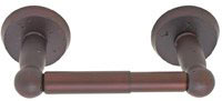 Emtek Sandcast Bronze Spring-Rod Toilet Paper Holder in Deep Burgundy