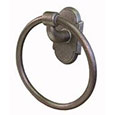 Emtek Wrought Steel Towel Ring in Satin Steel