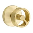 Emtek Spoke Door Knob in Satin Brass with Disk Rosette