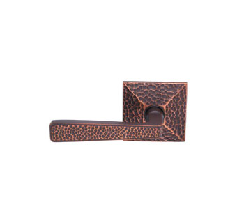 Emtek Hammered Style Brass Lever Door Handle