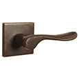 Emtek Luzern Brass Door Handle in Oil Rubbed Bronze with Square rosette