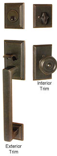 Emtek Hamden Brass Entry Door Handle