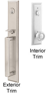 Emtek Melrose Brass Entry Door Handle
