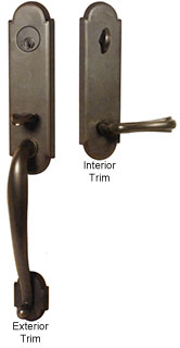 Emtek Richmond Brass Entry Door Handle