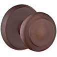 Emtek Butte Bronze Door Knob in Deep Burgundy with Style #2 rosette