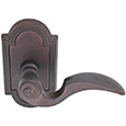 Emtek Napoli Bronze Door Handle in Deep Burgundy with Style #11 rosette