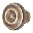 Emtek Brass Waverly Cabinet Knob in French Antique