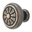 Emtek Petal Bronze Cabinet Knob in Medium Bronze