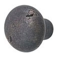 Emtek Round Sandcast Bronze Cabinet Knob in Medium Bronze