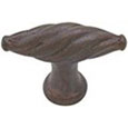 Emtek Tuscany Twist Bronze Cabinet Knob in Deep Burgundy