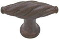 Emtek Twist Bronze Cabinet Knob in Deep Burgundy