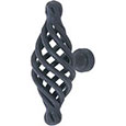 Emtek Bastogne Wrought Steel Cabinet Knob in Flat Black