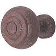 Emtek Brittany Wrought Steel Cabinet Knob in Rust
