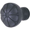 Emtek Petal Wrought Steel Cabinet Knob in Flat Black