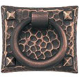 Emtek Hammered Ring Brass Cabinet Pull in Oil Rubbed Bronze