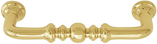 Emtek Spindle Brass Cabinet Pull in Polished Brass