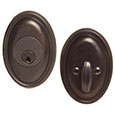 Emtek Style #14 Bronze Deadbolt Door Lock in Medium Bronze