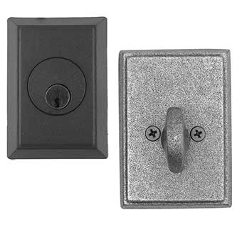 Emtek Style #3 Wrought Steel Deadbolt Door Lock