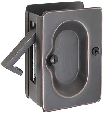 Emtek Pocket Door Lock in Oil Rubbed Bronze