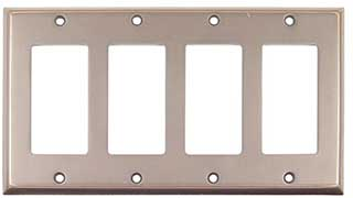 Emtek Colonial 4-Rocker Brass Switchplate in Oil Rubbed Bronze