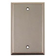 Emtek Colonial Blank Brass Switch Plate in Oil Rubbed Bronze