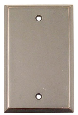 Emtek Colonial Blank Brass Switchplate in Oil Rubbed Bronze
