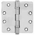 "Emtek Brass Ball-Bearing 1/4""-Radius Hinges in Polished Chrome"