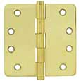 "Emtek Brass Residential-Duty 1/4""-Radius Hinges in PVD"