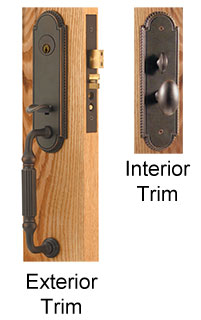 Emtek Hamilton Brass Mortise Lock