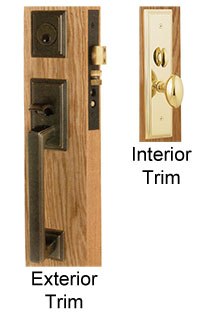 Emtek Mills Brass Mortise Lock
