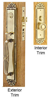 Emtek Versailles Brass Mortise Lock