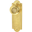 "Emtek Belmont 7-1/2"" Brass Door Handle Plate in Polished Brass with Belmont knob"