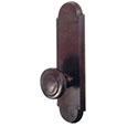 "Emtek Style #5 9-5/16"" Bronze Door Handle Plate in Deep Burgundy with Butte knob"