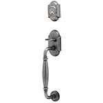 Emtek Normandy Sectional Entry Door Handle Set in Satin Steel