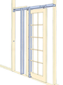 Johnson Pocket Door Installed Frame